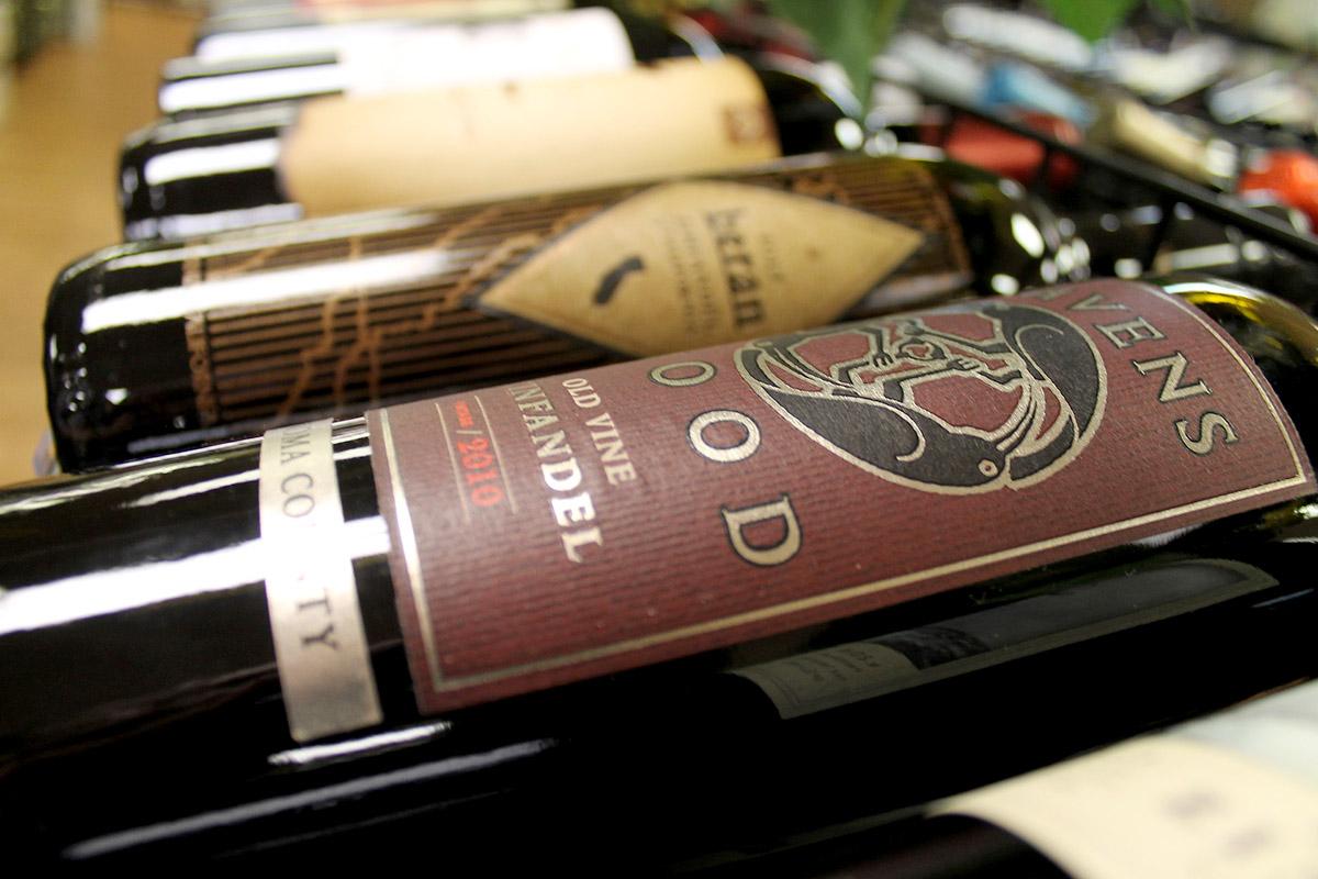 Liquor store wine rack in Calgary